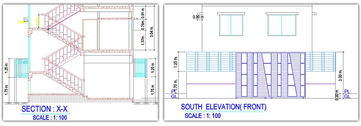 Front Elevation Residential Building Autocad : Full residential building plan free download dwg file