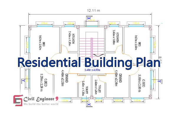 Full Residential Building Plan | Free Download DWG File