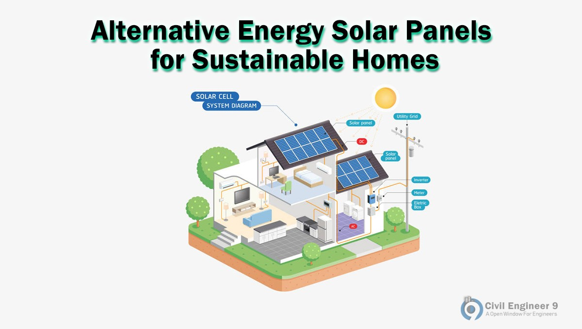 Solar panel for Sustainable homes