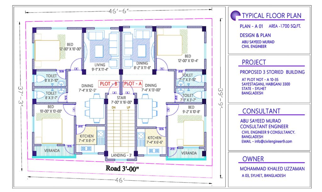 1700 Sq Ft House Plan Download