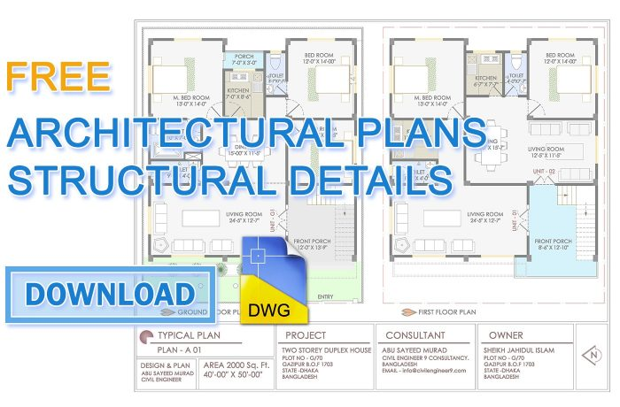 free architectural plans download